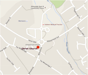 Christ Church Location map