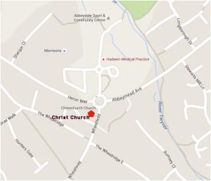 Christ Church Location map