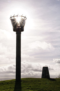 Beacon & trig point on Robinswood Hill