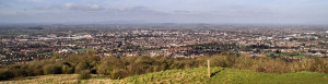 View over Gloucester from the top of Robinswood Hill